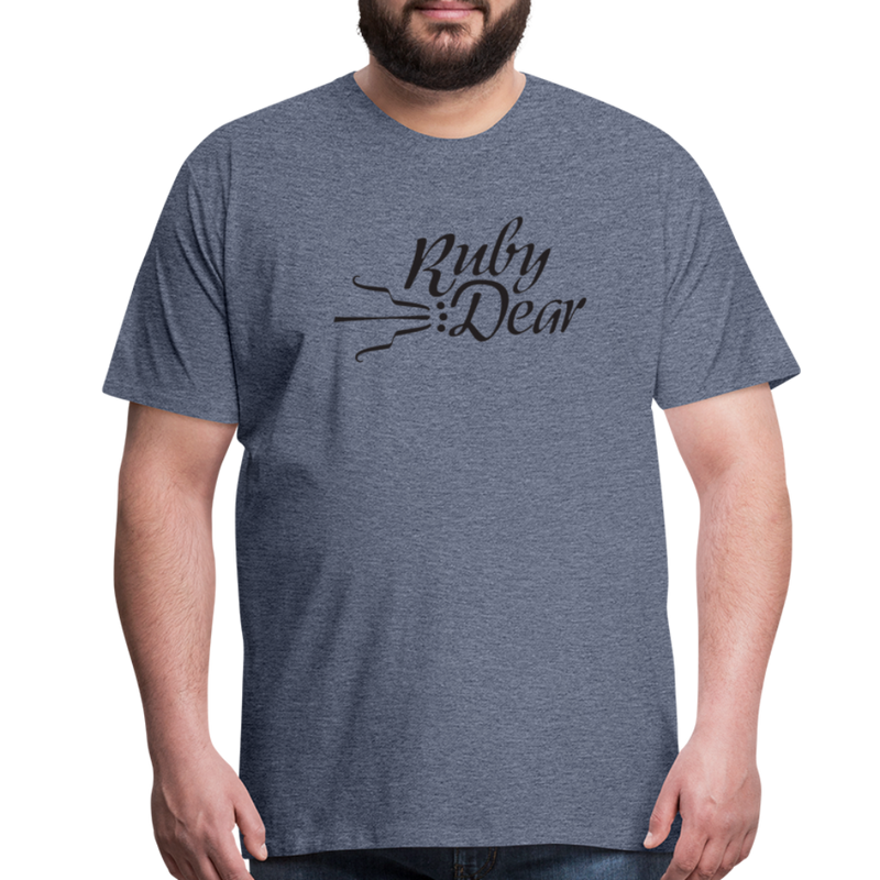 Ruby Deer Men's T-Shirt - heather blue