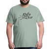 Ruby Deer Men's T-Shirt - steel green
