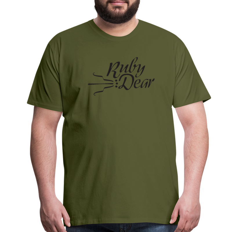 Ruby Deer Men's T-Shirt - olive green