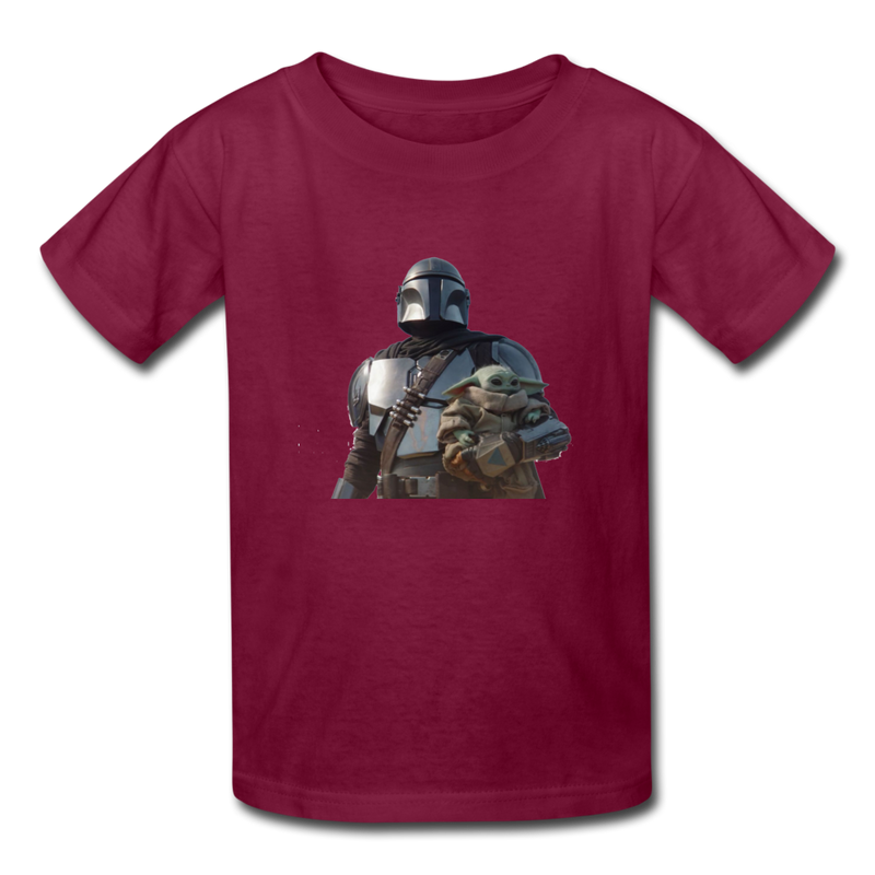 The Mandalorian Kids' T-Shirt - burgundy
