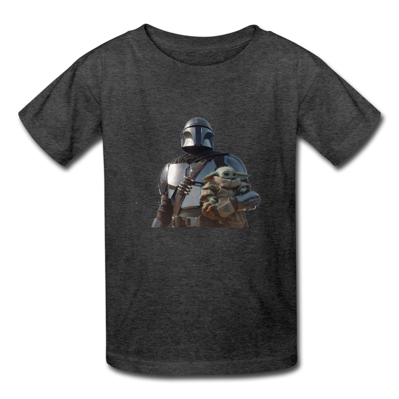 The Mandalorian Kids' T-Shirt - heather black