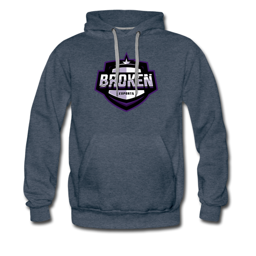 Broken eSports Men's Premium Hoodie - heather denim