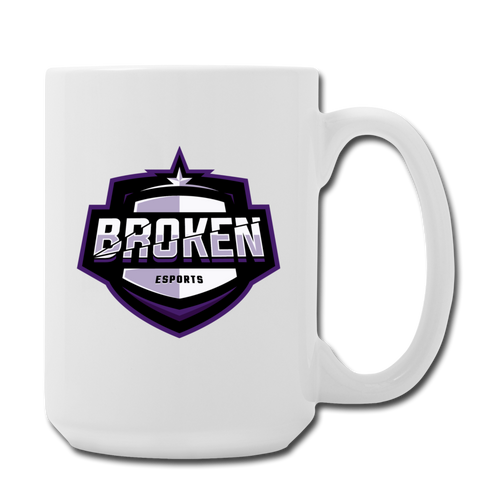 Broken eSports Coffee/Tea Mug 15 oz - white