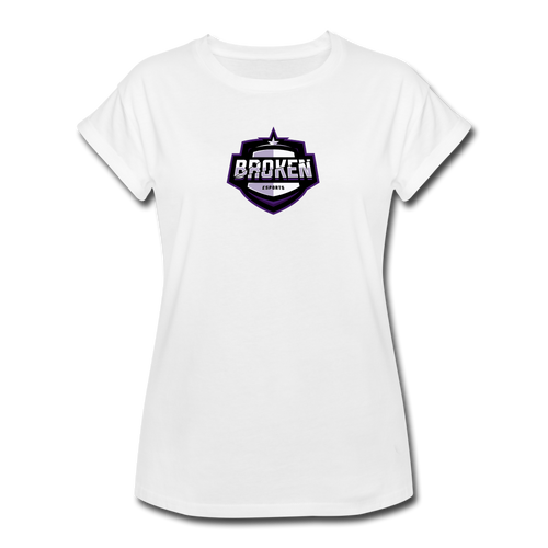 Broken eSports Women's Relaxed Fit T-Shirt - white