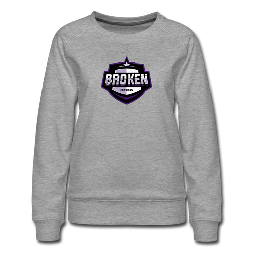 Broken eSports Women's Premium Sweatshirt - heather gray
