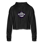 Broken eSports Women's Cropped Hoodie - deep heather