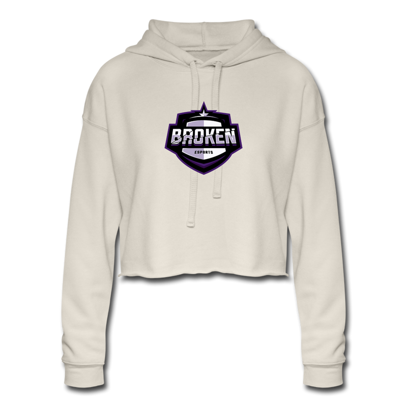 Broken eSports Women's Cropped Hoodie - dust