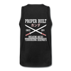 Proper Built Honda Men's Tank (White Logo) - black