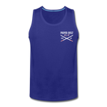 Proper Built Honda Men's Tank (White Logo) - royal blue
