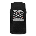Proper Built Honda Men's Tank (White Logo) - charcoal gray