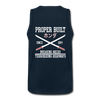 Proper Built Honda Men's Tank (White Logo) - deep navy