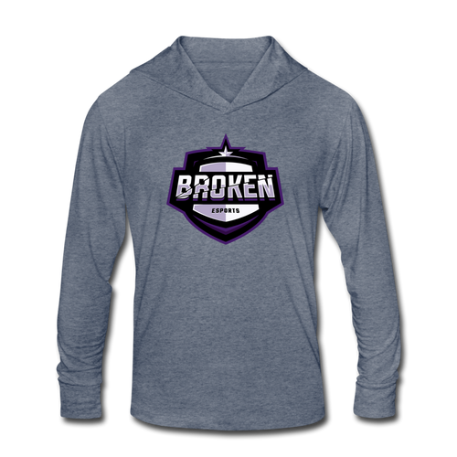 Broken eSports Unisex Tri-Blend Hoodie Shirt - heather blue