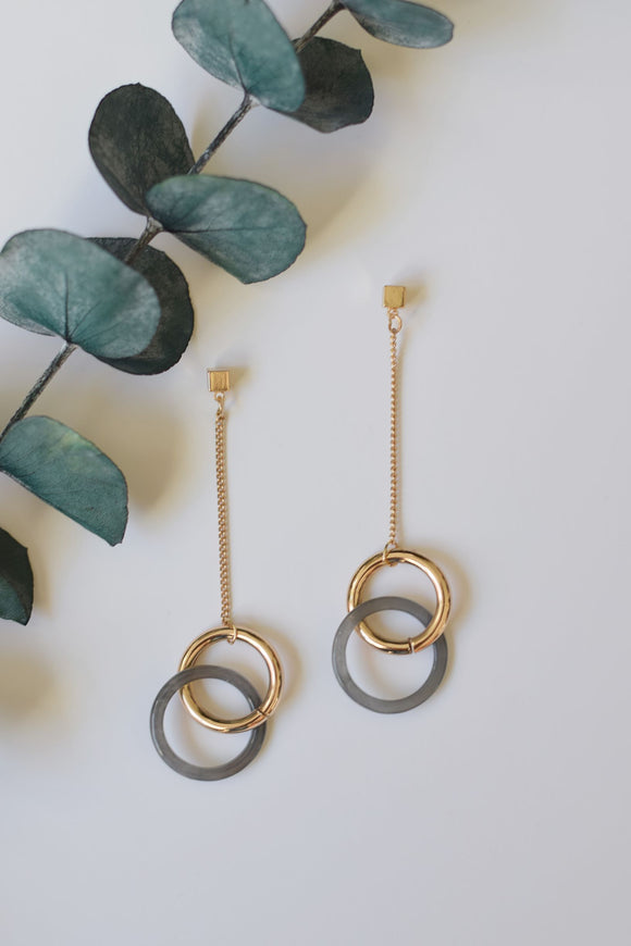 Gold and Gray Chains - Resonate Jewelry