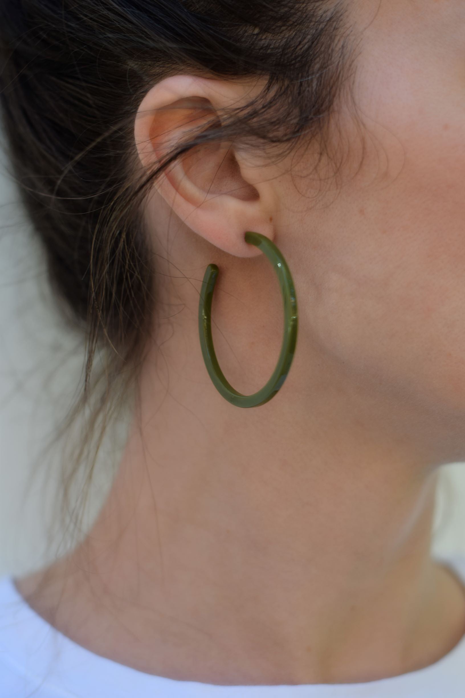 Olive Hoops - Resonate Jewelry