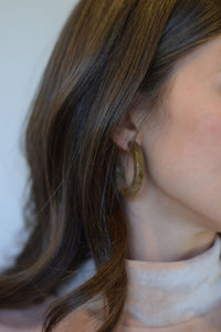 Espresso Tortoise Chunky Hoops - Resonate Jewelry