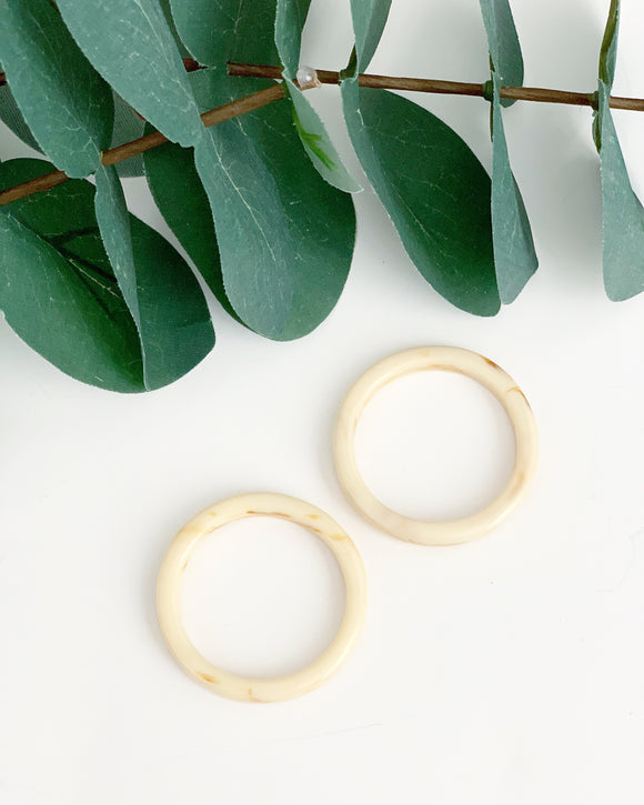 Cream Tortoise Front Hoops - Resonate Jewelry
