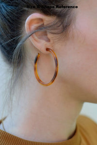 Grey Tortoise Hoops - Resonate Jewelry