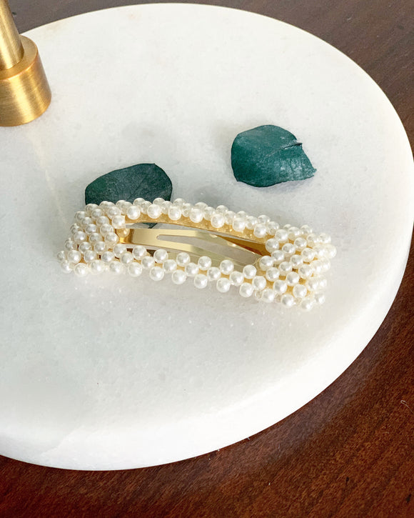 Pearl Square Hair Clip - Resonate Jewelry
