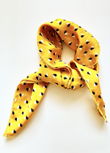Yellow Hearts Hair Scarf - Resonate Jewelry