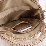 Taupe Handwoven Shoulder Bag - Resonate Jewelry