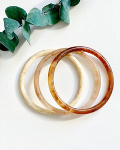 3 Tortoise Bangles (Coffee, Bone, & Taupe) - Resonate Jewelry