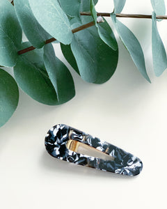 Black Tortoise Resin Hair Clip - Resonate Jewelry