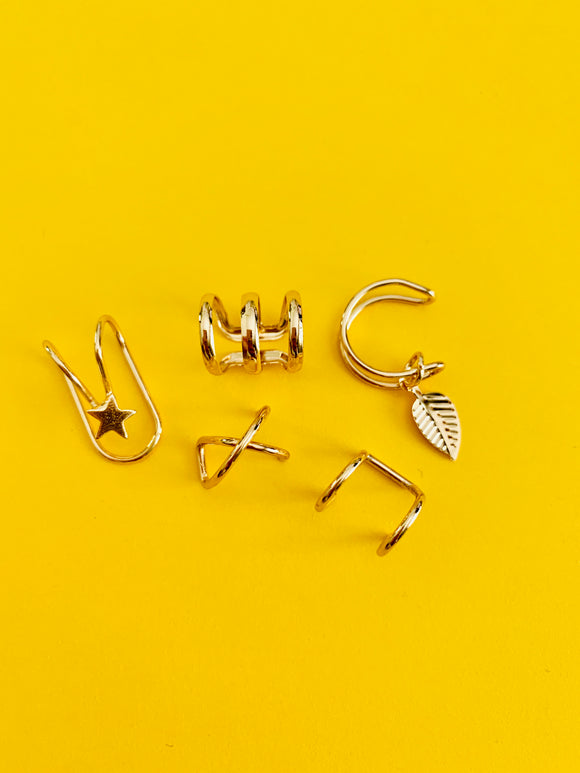 5 Golden Ear Cuffs