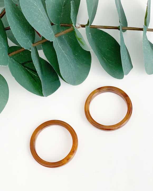 Tortoise Front Hoops - Resonate Jewelry