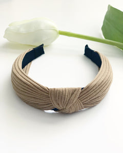 Sand Ribbed Knotted Headband - Resonate Jewelry