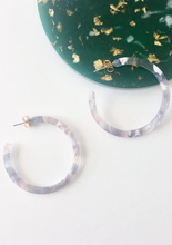 Load image into Gallery viewer, Grey Tortoise Hoops - Resonate Jewelry