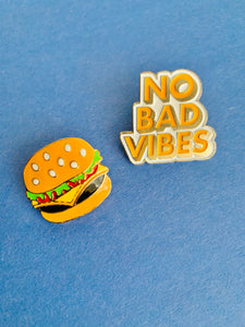 No Bad Vibes Pins