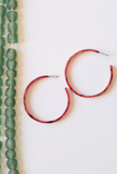 Rose Tortoise Hoops - Resonate Jewelry
