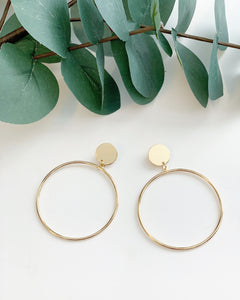 Golden Drop Hoops - Resonate Jewelry
