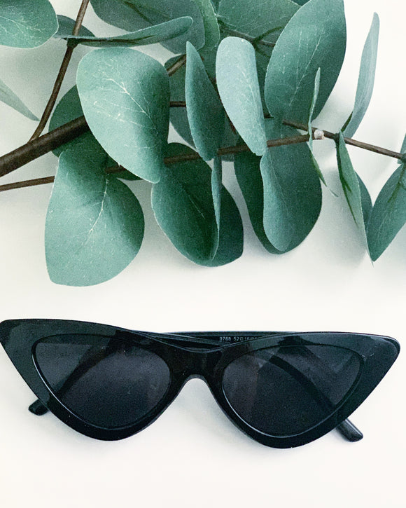 Slim Cat-eye Black Sunglasses - Resonate Jewelry