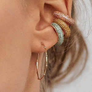 Pink and Golden Ear Cuff - Resonate Jewelry