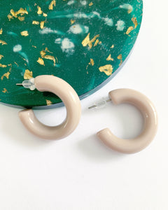 Mini Taupe Hoops - Resonate Jewelry