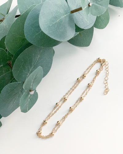 Gold Anklet - Resonate Jewelry
