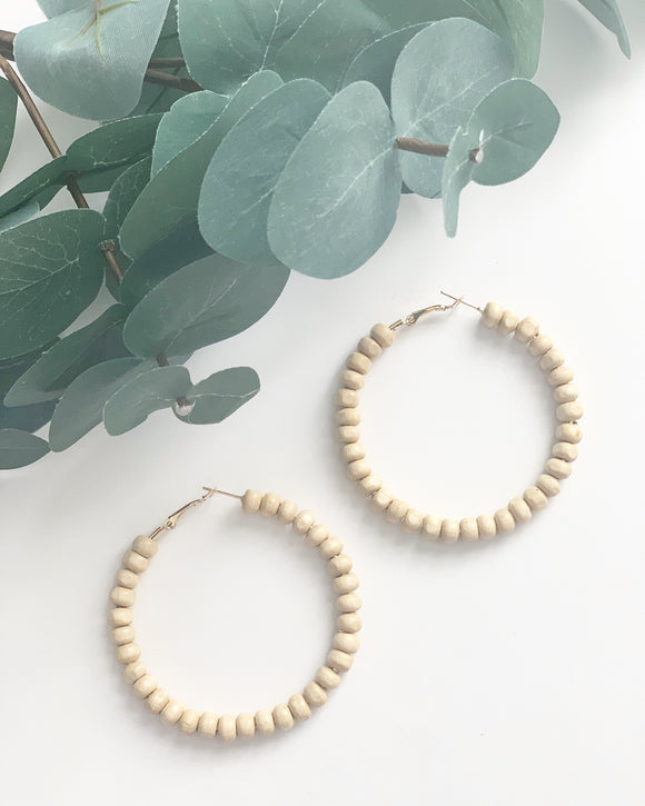 Natural Wood Hoops - Resonate Jewelry