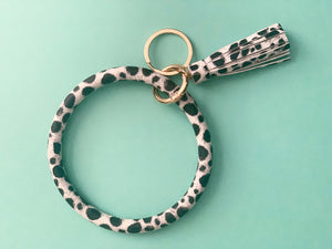 Brown and Black Calf Print Keyring - Resonate Jewelry