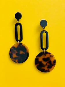 Black & Tortoise Dangles