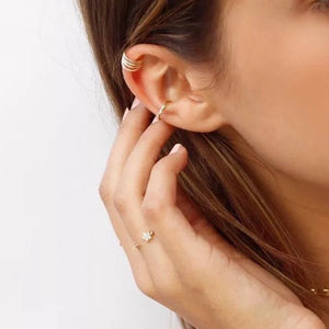 Two Mini Golden Ear Cuffs - Resonate Jewelry