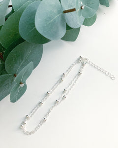 Silver Anklet - Resonate Jewelry