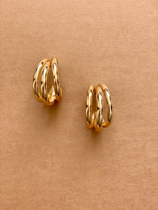 Triple Threat Earrings (gold) - Resonate Jewelry