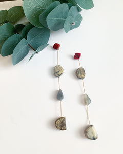 Stone Dangle Earrings - Resonate Jewelry
