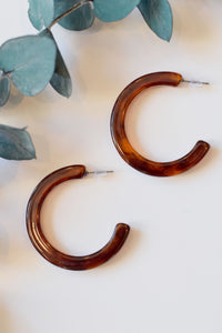 Leopard Tortoise Chunky Hoops - Resonate Jewelry