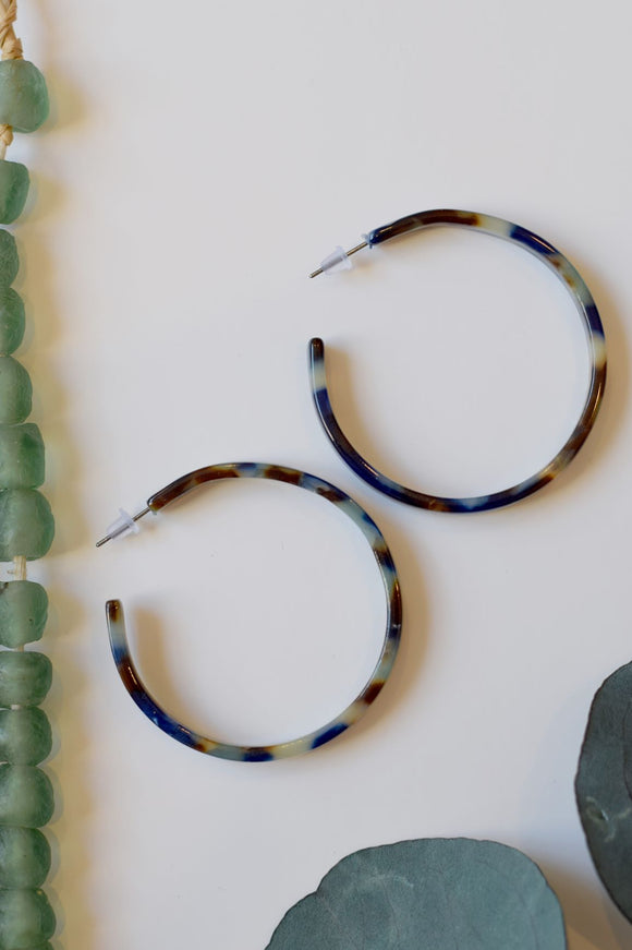 Peacock Tortoise Hoops - Resonate Jewelry