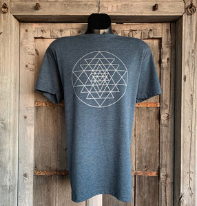 Men's Sri Yantra T-Shirt Indigo/Silver