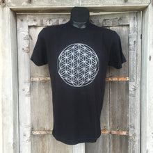 Load image into Gallery viewer, Men's Flower of Life T-Shirt Black/Silver