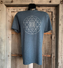 Load image into Gallery viewer, Men's Sri Yantra T-Shirt Indigo/Silver