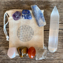 Load image into Gallery viewer, Chakra Set with Selenite Wand